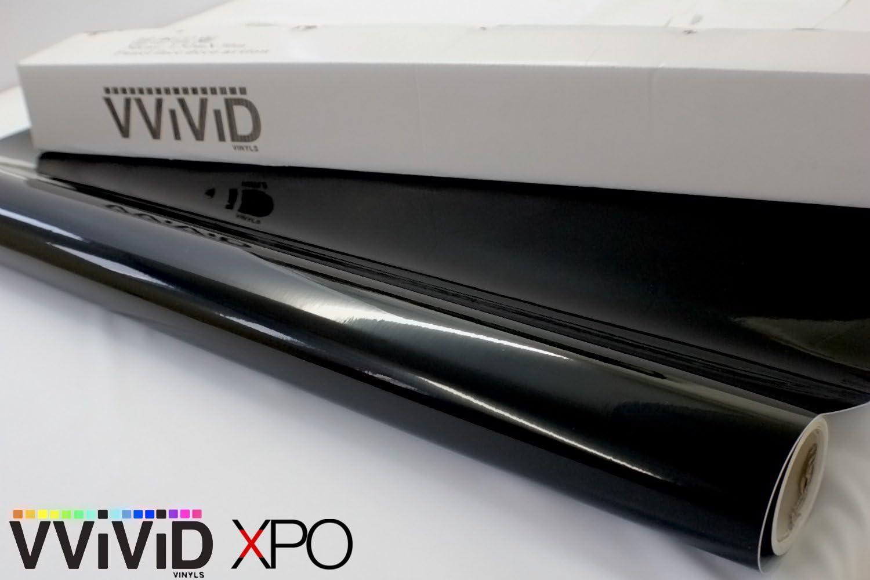 VViViD Gloss Black Vinyl Wrap Adhesive Film Air Release Decal Sheet 1.5ft x 5ft