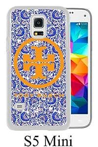 Galaxy S5 Mini Phone Case,tory burch logo (2) White Pattern Cool Design Samsung Galaxy S5 Mini Cover Case
