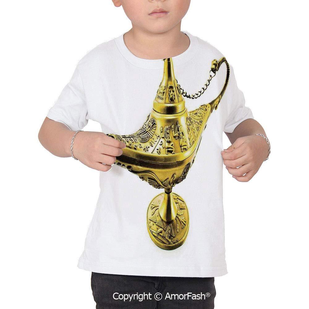 Arabian Childrens Summer Casual T Shirt Dresses Short Sleeve,Aladdin`s Magic Ge
