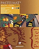 Pastelmat 12 Sheet Pad - White, Anthracite, Sienna, Brown Sheets - 9''x12''