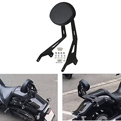 AUFER Fixed Mount Short Black BACKREST Sissy Bar Upright & Custom PAD for Yamaha Star Stryker 2011-2020 27D-F84A0-S0-00: Automotive