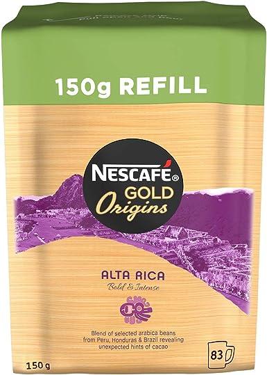 Nescafé Gold Origins Alta Rica Instant Coffee Refill 150 G Pack Of 6