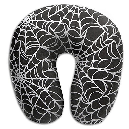 Halloween Spider Web 100% Polyester Comfort Head Support Neck Pillow U Shaped Pillow For Traveling Rest Sleeping (Spider Rest Head)