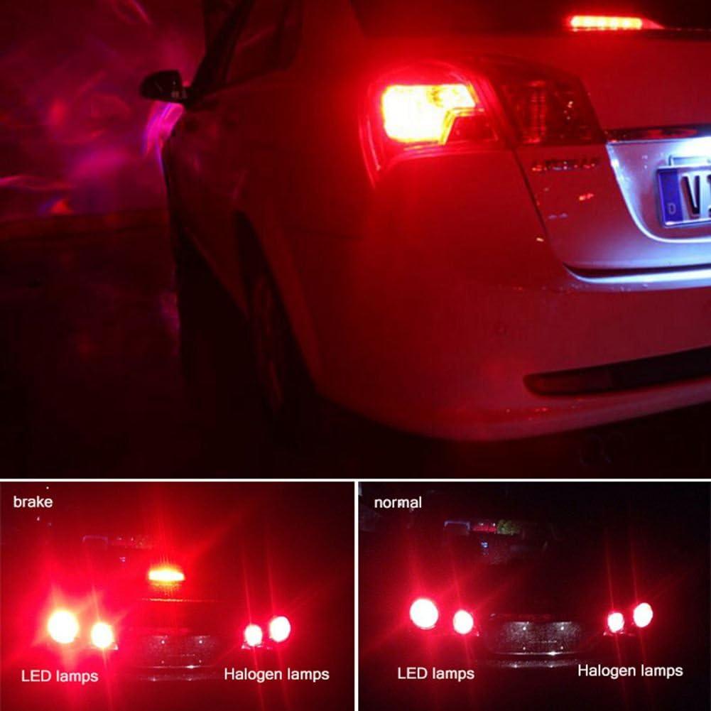 KATUR 2pcs High Power 800 Lumens Super Bright 3156 3156A 3456 LED 15SMD 2835 Backup Reverse Tail Brake Lights Parking LED Blubs DC 12V Red