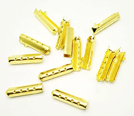 Details about  /200 Pieces 3 Holes Shoelace Tip Head Metal Aglets Replacement Tips For Canvas Mm