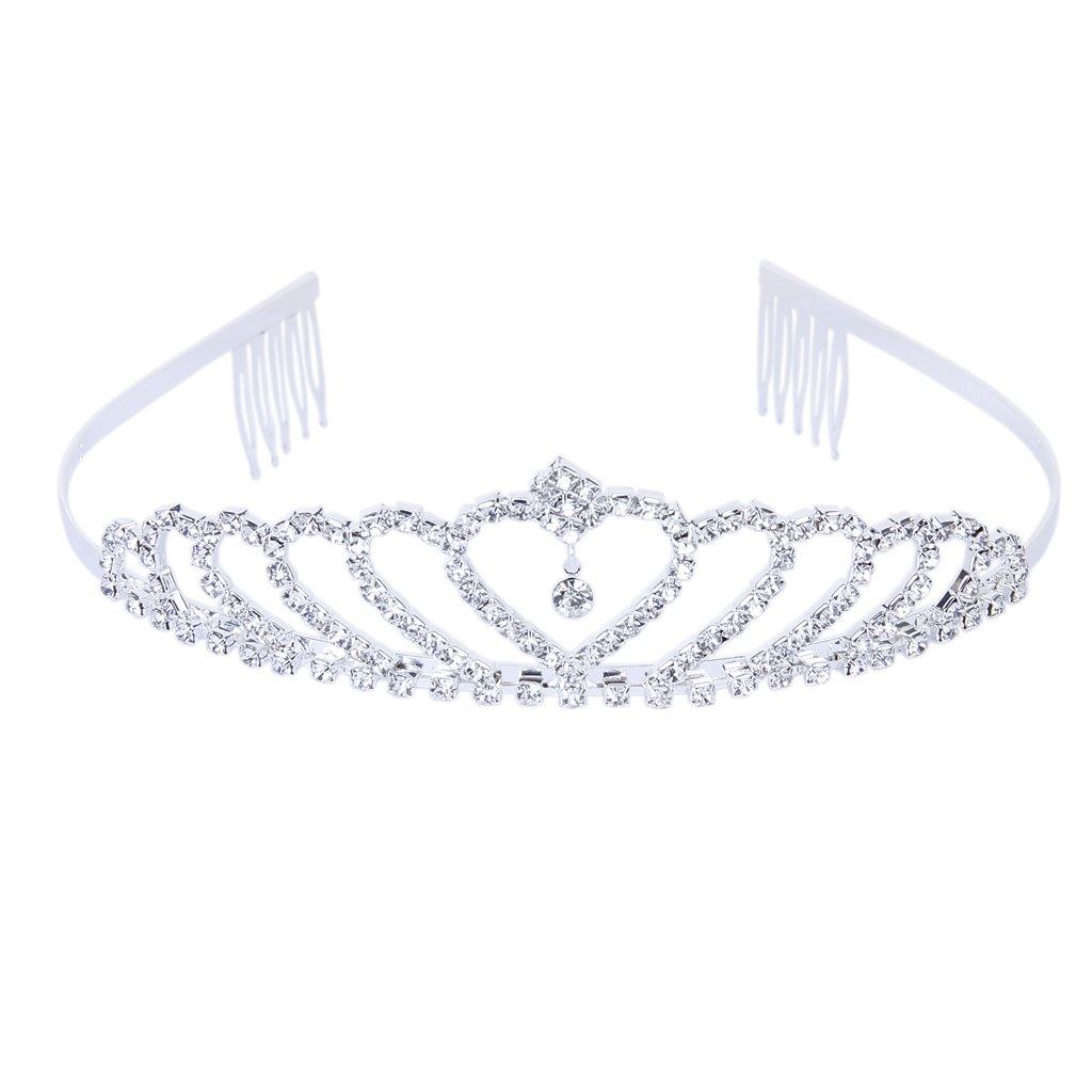 Krone Stilvolle Strass Prinzessin Stirnband Haarspange Diadem Hochzeit Braut Pin Unbekannt generico
