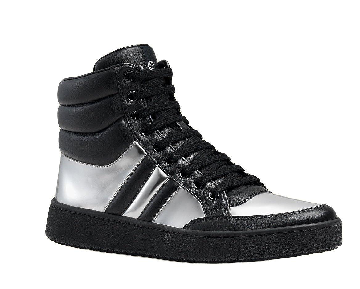95ef48d4f16 Gucci Men s Contrast Padded Leather Hi-top Sneaker