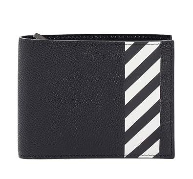 low cost 37e1f b2fc6 Amazon | OFF-WHITE 財布 オフホワイト レザー二つ折り財布 DIAG ...