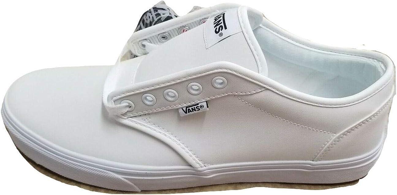 Amazon.com | Vans Atwood Leather True White Men's Classic Skate ...