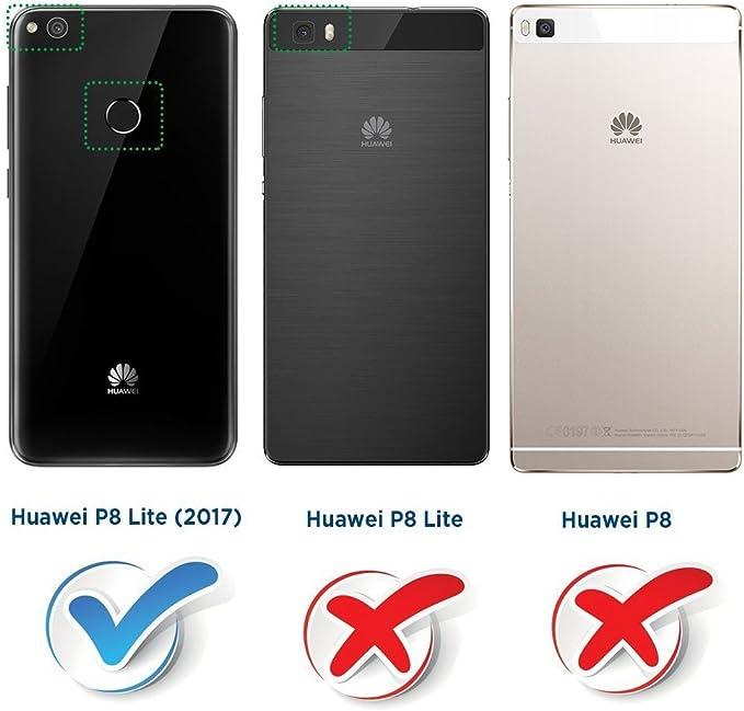 COODIO Funda Huawei P8 Lite 2017 con Tapa, Funda Movil Huawei P8 ...