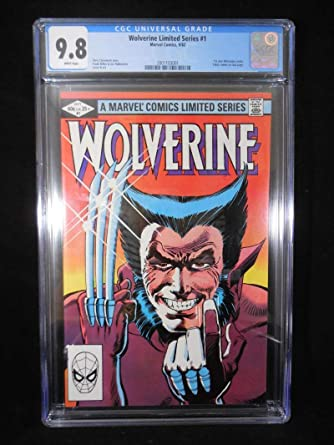 0cbadd7bd45 Amazon.com: Wolverine Limited Series #1 CGC 9.8 White Pages Frank ...