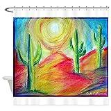 CafePress Desert, Southwest art! Shower Curtain Decorative Fabric Shower Curtain (69''x70'')