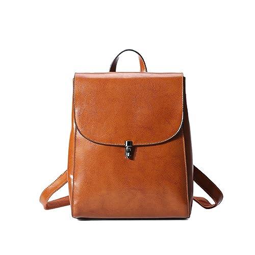 Anne - Bolso mochila de Piel para mujer negro Yellowish: Amazon.es: Zapatos y complementos