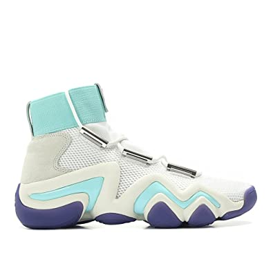 7a1f0e9b7b86 adidas Mens Crazy 8 ADV Nicekicks White Mint-Purple Mesh Size 8