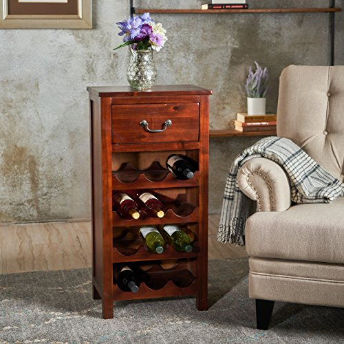 Christopher Knight Home 301467 Eirinn Wine Rack, Dark Oak