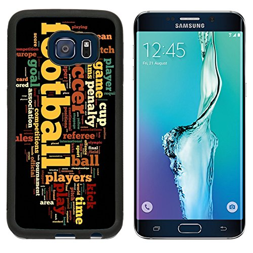 MSD Premium Samsung Galaxy S6 Edge Aluminum Backplate Bumper Snap Case IMAGE ID: 13409438 Football concept in word tag cloud on black background (Diamond Football Formation compare prices)