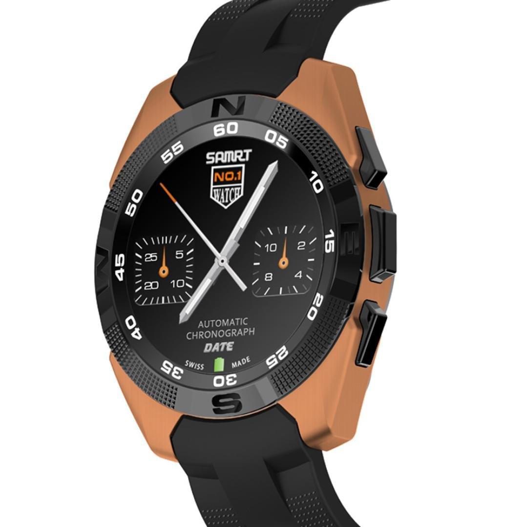 1.5インチg5 mtk2502 Smart Watchモニター歩数計Bluetoothハートratefor iOS 7.0以上、4s / 5 / 5 C / 5s / 6 / 6 Plus / 6s / 6s Plus , Android 4.3  ゴールド B01M0QLF0B