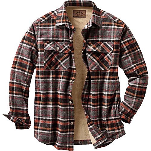 fleece lined flannel shirt for men
