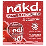 Nakd Free From Strawberry Crunch Fruit & Nut Bar Multipack 4 x 30g - Pack of 6
