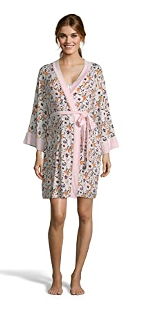 Lamaze Intimates Womens Maternity Nursing V-Neck Nightgown Matching Belted  Robe Set Coconut Small 039b8c877