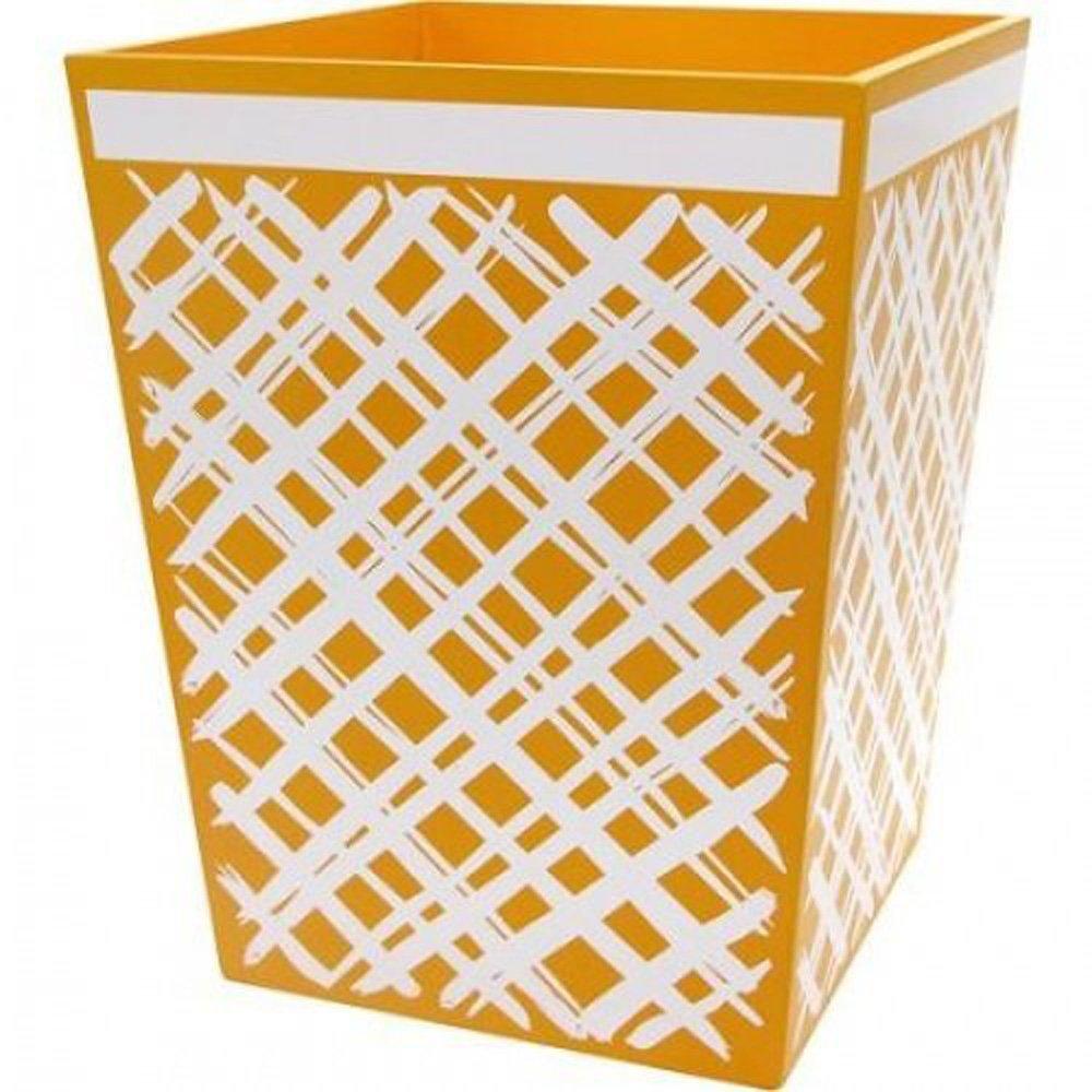 Allure Home Creation Sunflower Wood Wastebasket