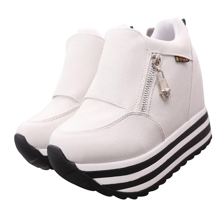 6c94bf5aae0 Wealsex Basket Montantes Platform Femme Sneakers Chaussure Toile Automne  Hiver Confort 80%OFF