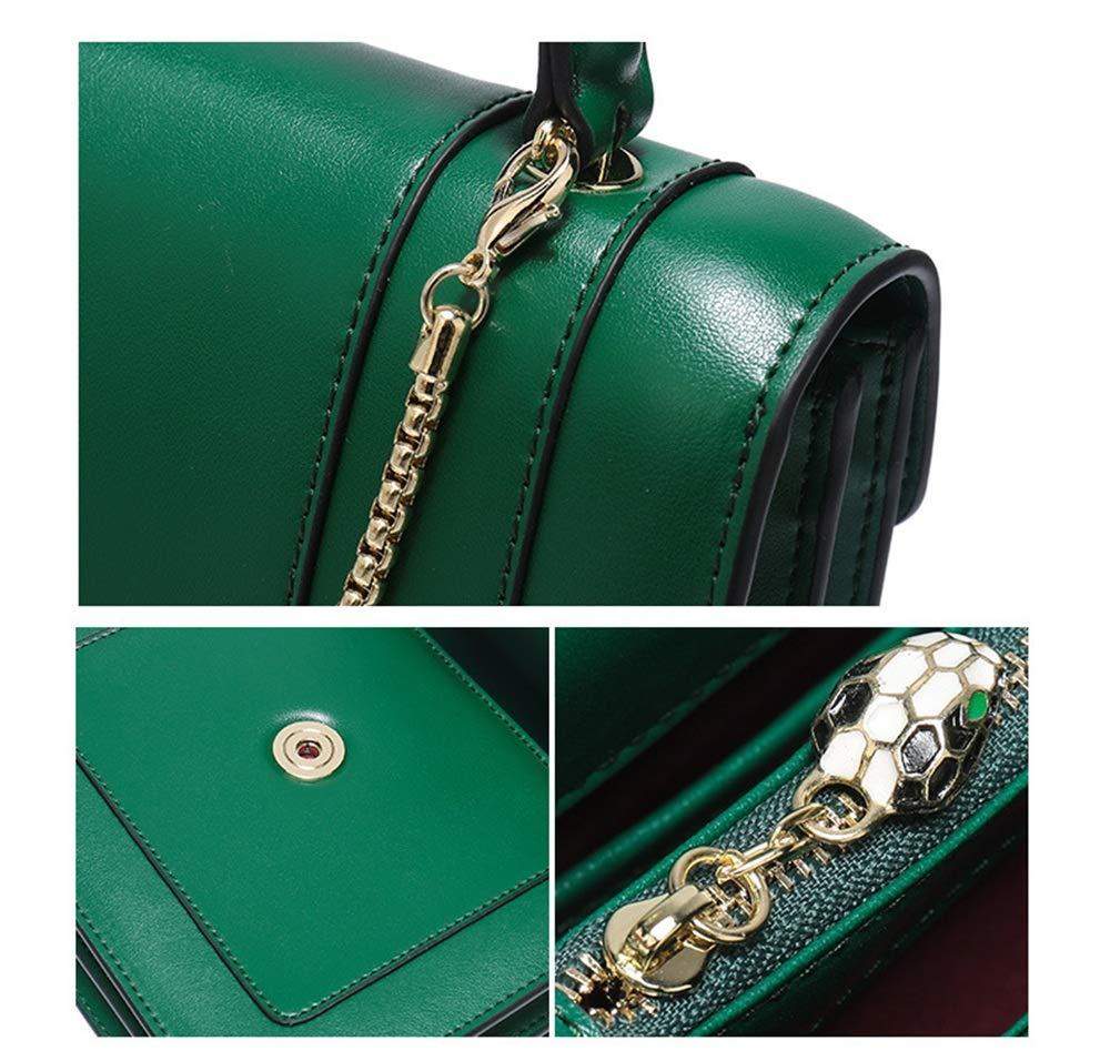 LBYMYB Fashion Chain Python Head Shoulder Leather Small Square Bag Hand Bag