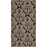 Safavieh Courtyard Collection CY6930-26 Black and Cream Indoor/Outdoor Area Rug (2'7″ x 5′) Review