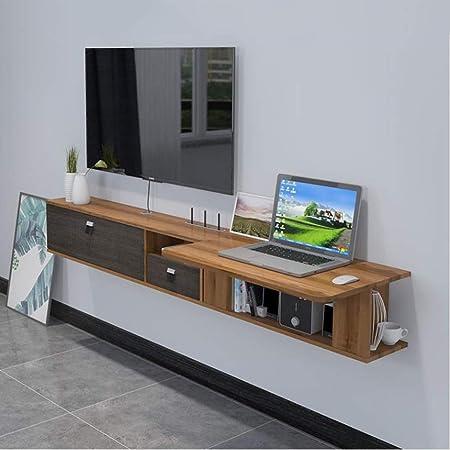 XKCJTCF Mueble de TV de Pared con cajón Estante de Pared Estante de Productos Estante Flotante Escritorio de la computadora Tocador Estantería Estantería Caja de Almacenamiento de enrutador (c: Amazon.es: Hogar