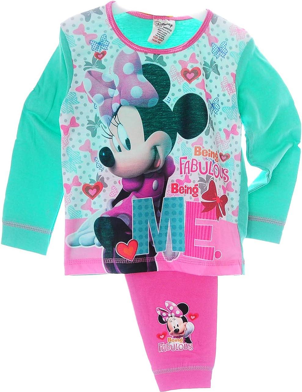 Minnie Mouse Baby Kinder Pyjama Schlafanzug Set Shirt Hose Rosa