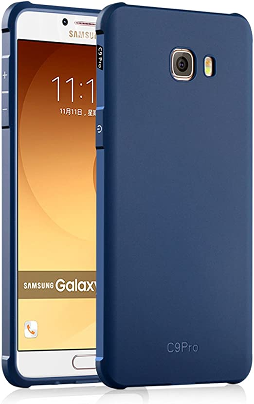 Samsung Galaxy C9 Pro Funda, Serie Negocios A Prueba de Choques Ultra Fino Suave Silicona Contraportada Caso para Samsung Galaxy C9 Pro (Azul): Amazon.es: Hogar