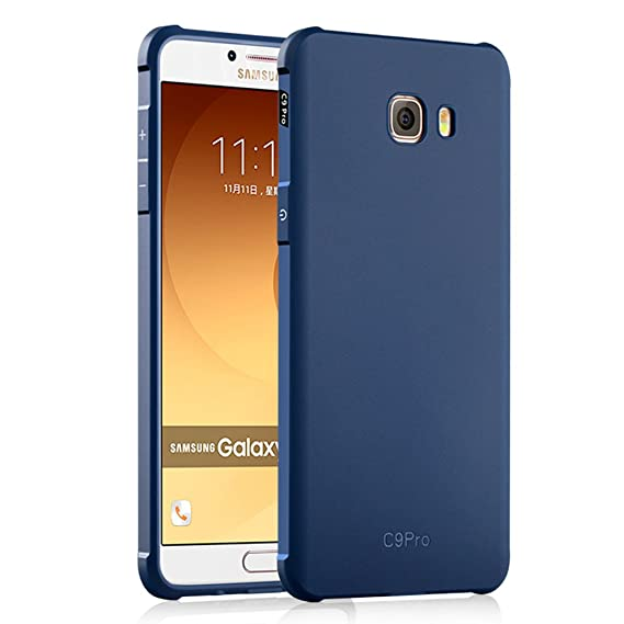the latest 33c2f 1970a Samsung Galaxy C9 Pro Case, Business Series Shockproof Ultra Thin Soft  Silicone Back Case Cover for Samsung Galaxy C9 Pro (Blue)