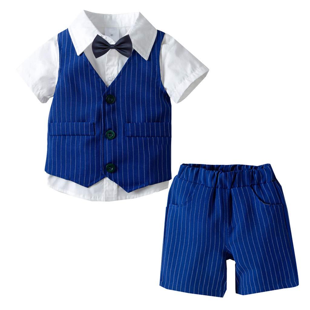 Shirt Ausstattungs 3PCS Set Kinderkleidung Babykleidung Bekleidungsset Kinderanzug Set Kleinkind Kinder Baby Boy Junge Gentleman Weste Bow Hosentr/äger Strap Hosen