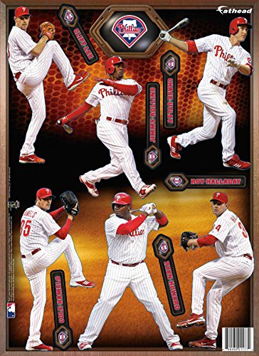MLB Philadelphia Phillies 2013 Six Player Fathead Teammate Wall Decal, 8 x 16-inches ()