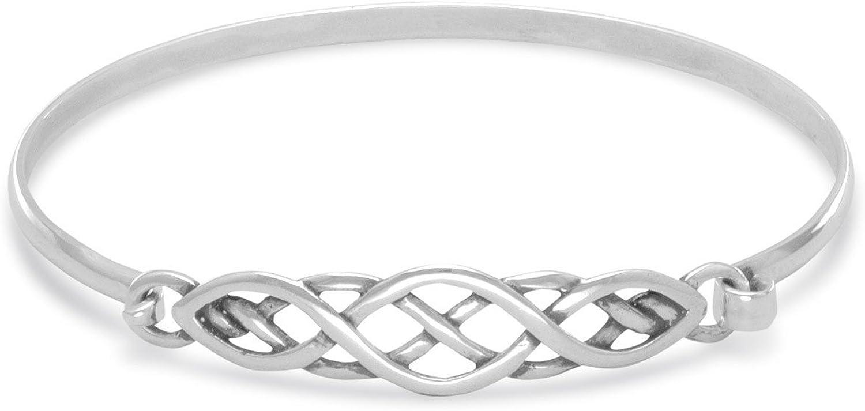 JewelryPalace Celtic knot Open 925 Sterling Silver Bangle Bracelet