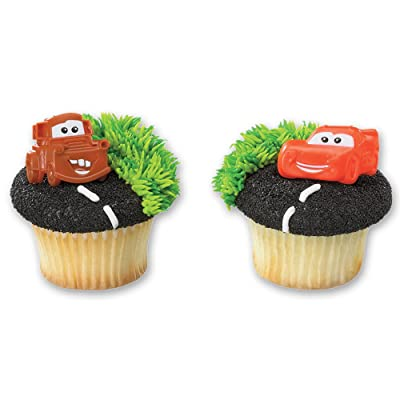 DecoPac Cars Mater and McQueen Cupcake Rings (12 Count): Toys & Games