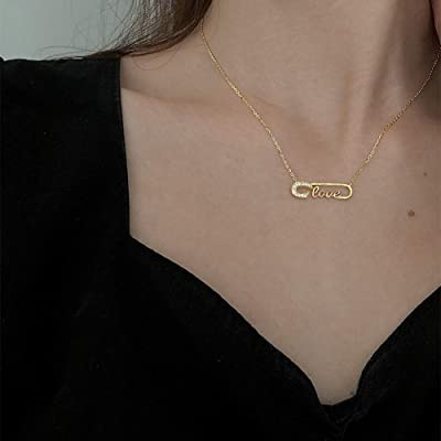 Fashion Custom Diamond Name Necklace,925 Sterling Silver Pendant Necklace,Personalized Natural Diamond Initial Necklace,Minimalist Necklace