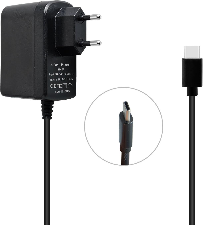 Aukru 5V 3A/15 V 2.6A AC Carga rápida PD Tipo C Adaptador para Nintendo Switch con 1.5 m Cable para Nintendo Switch: Amazon.es: Electrónica