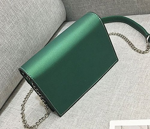 Sac OME Green Petit amp;QIUMEI Bandoulière 19 Sac À Sac Sac 6Cm 13 Chaîne Petit Bandoulière De aqaXrZwx
