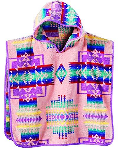 Pendleton Girls' Jacquard Hooded Towel Pink One Size by Pendleton