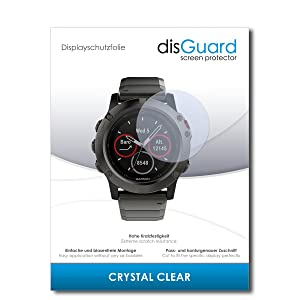 3 x disGuard¨ Screen Protector Garmin fenix 5X Screen Protection Film