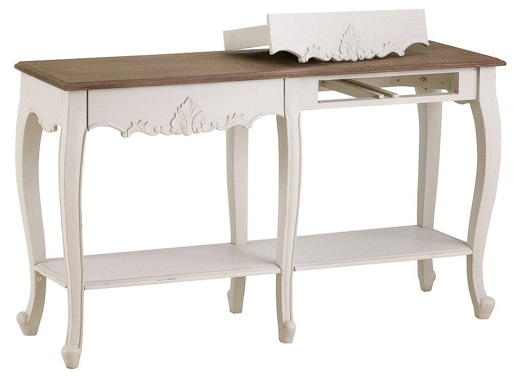 The Furniture Outlet Perpignan Shabby Chic 6 Leg Console Table