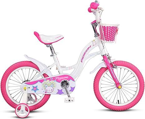 Bicicletas YANFEI Niños Niño Niña con Rueda De Entrenamiento 14 ...