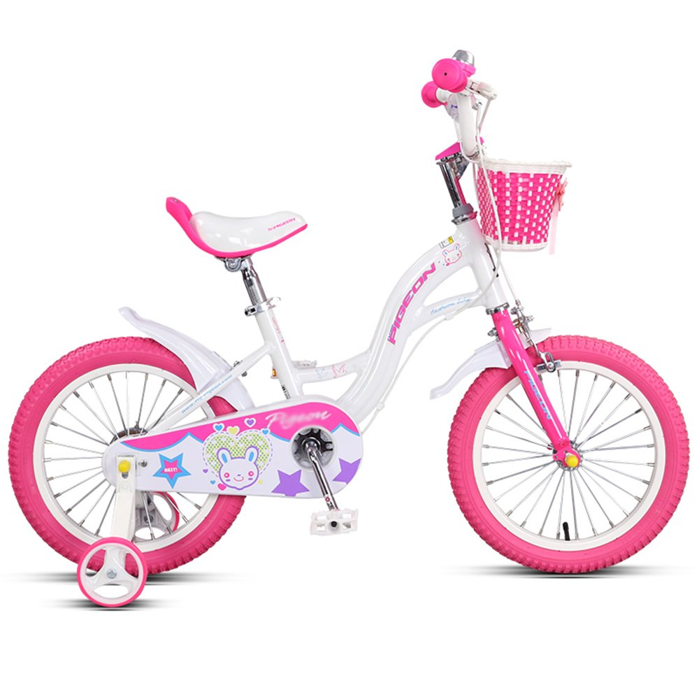 ZHIRONG 子供用自転車 トレーニングホイール付きの少年の自転車と少女の自転車 14インチ、16インチ アウトドアアウト ( 色 : 白 , サイズ さいず : 14 inch ) B07CRNK9Q2 14 inch|白 白 14 inch