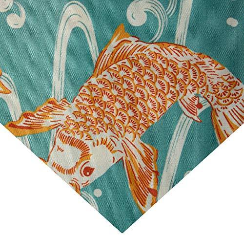 (WAVERLY 0537525 Sun N Shade Kool Koi Coral Reef Fabric by The Yard, )