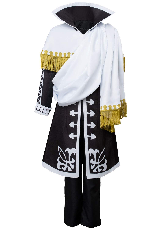 Weiß XS Manfis Fairy Tail Season 5 Zeref Dragneel Emperor Outfit Cosplay Kostüm Herren