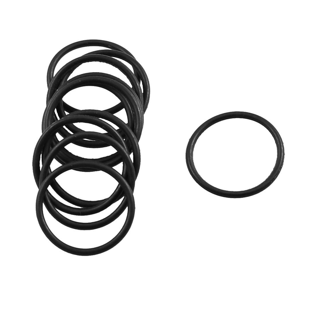 sourcingmap® 10 Pcs Black Rubber Oil Filter Sealing O Ring Gasket 20mm x 17mm x 1.5mm a12100800ux1087