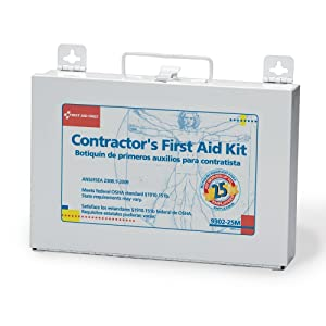 Bulk First Aid kit, Metal, 25 Person