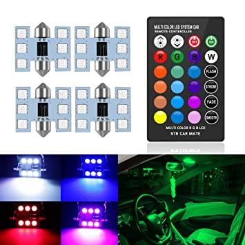 """SiriusLED Extremely Bright 400 Lumens 3020 Chipset Canbus Error Free LED Bulbs for Interior Car Lights License Plate Dome Map Door Courtesy 1.25/"""" 31MM Festoon DE3175 6428 Xenon White"""