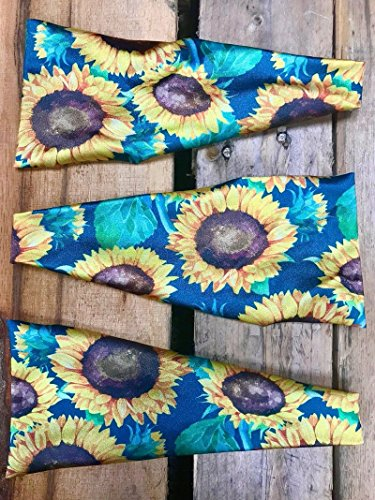 Hippie Runner Sunflower Power. Headbands By The #1 Choice For Athletes! No Slip, No Drip Headbands For Running, Walking, Exercise Or Fashion!
